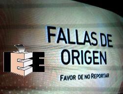 Fallas de Origen IEE
