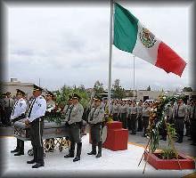 Honores al Comandante Manuel Gándara, asesinado el 12 de septiembre de 2012.