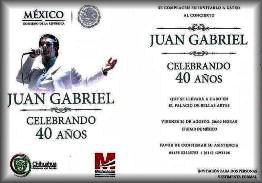 Invitación al la celebración del 40 Aniversario artístico de JuanGa.