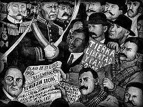 "Fragmento de ""La historia de México"", Diego Rivera"