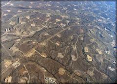 """Pozos de explotación de gas """"shale"""" en Wyoming, EU"""
