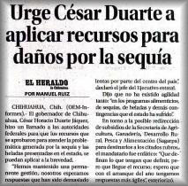El Heraldo de Chihuahua, Fecha: 2012-01-12 (Click para agrandar)