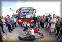 Protestas ciudadanas por el mal servicio.